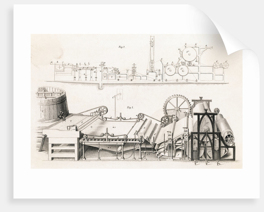 Illustration of Paper Making Machine by Corbis