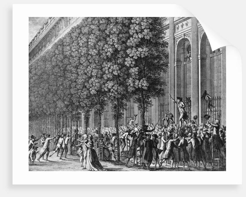 Camille Desmoulins Urging Crowd to Take up Arms by Corbis