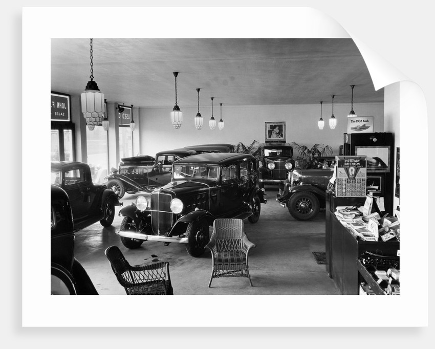Showroom Displaying Nash Cars by Corbis