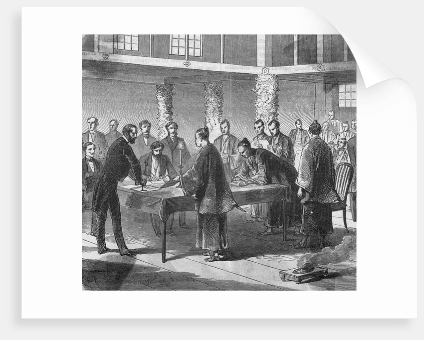 Treaty of Commerce Being Signed by Corbis