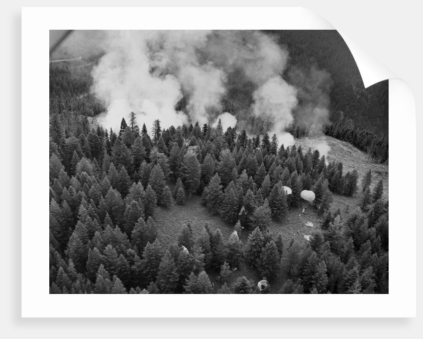 Firejumpers in Lolo National Forest by Corbis