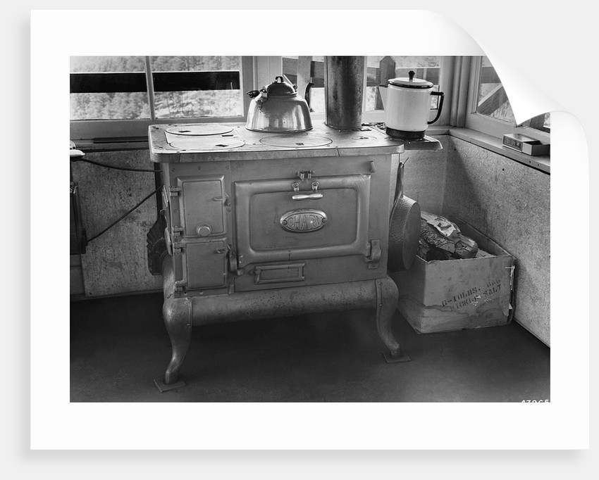 Wood Stove in Bullock Lookout by Corbis