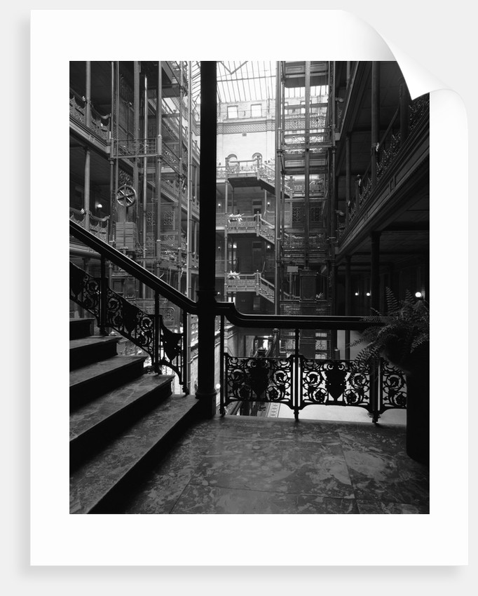 Interior of the Bradbury Building by Corbis