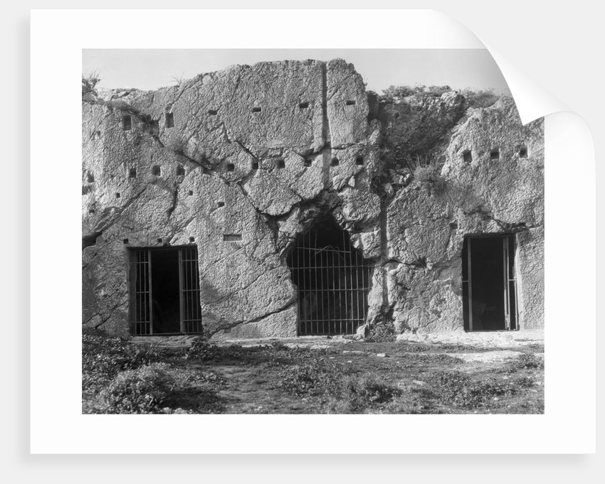 View of Prison of Socrates in Greece by Corbis