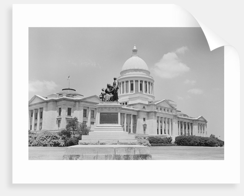 Arkansas State Capitol and To the Confederate Women of Arkansas by Corbis