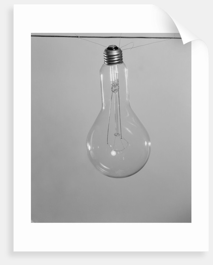 Incandescent Electric Light Bulb with Tungsten Filling by Corbis