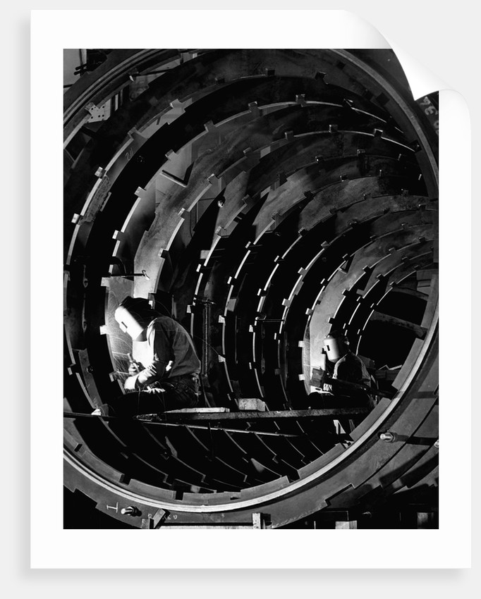 Welders Joining Generator Ribs by Corbis