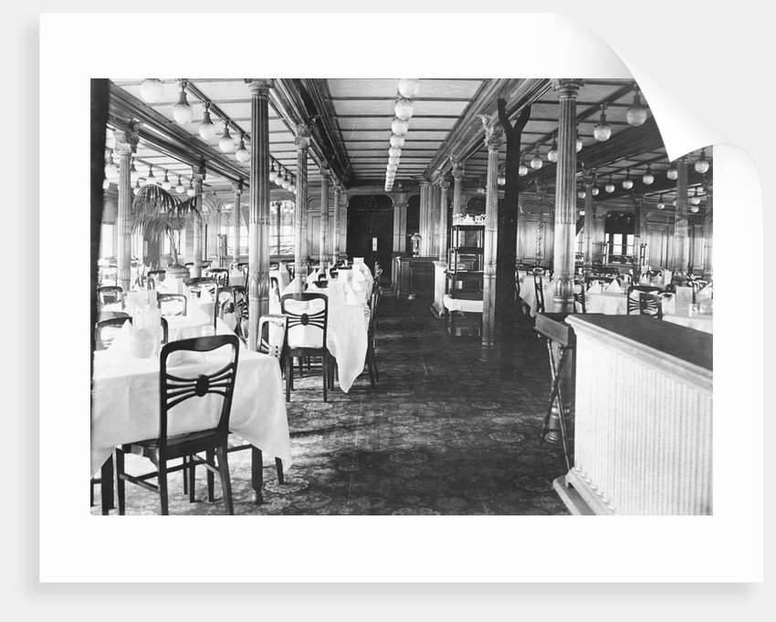 Elegant Dining Area on Shipboard by Corbis