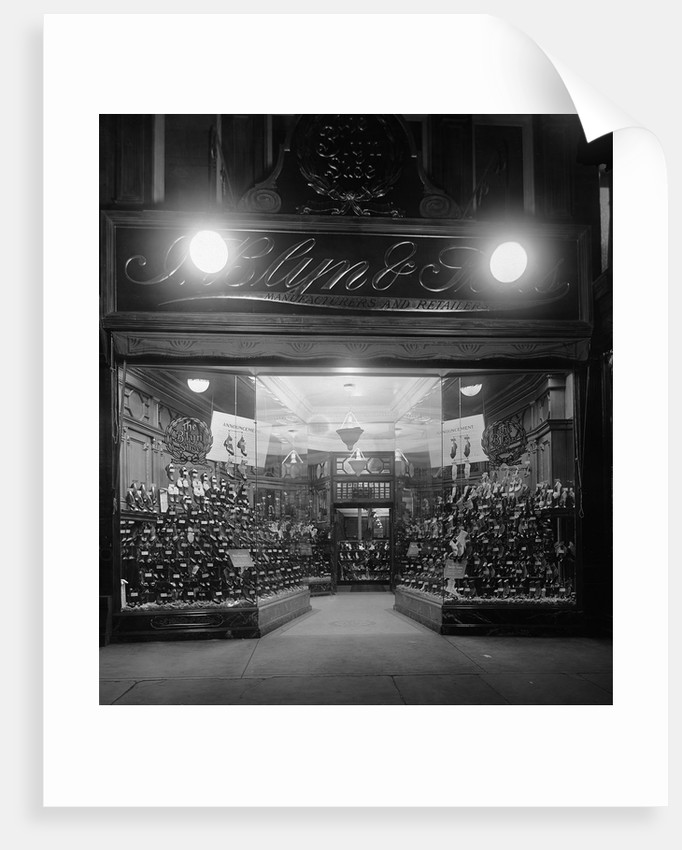 Entrance to a Shoe Store by Corbis