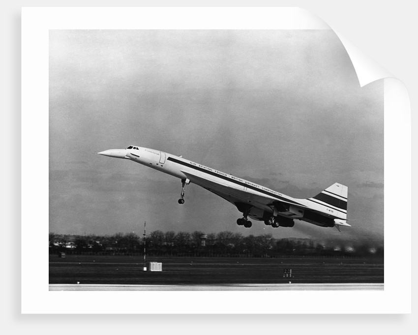 Taking Off For The First Time At 3.30 p.m. Is Concorde 001. by Corbis