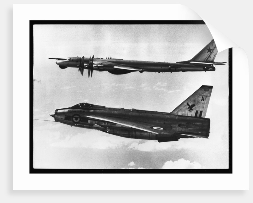 British Fighter Intercepting Soviet Bomber by Corbis