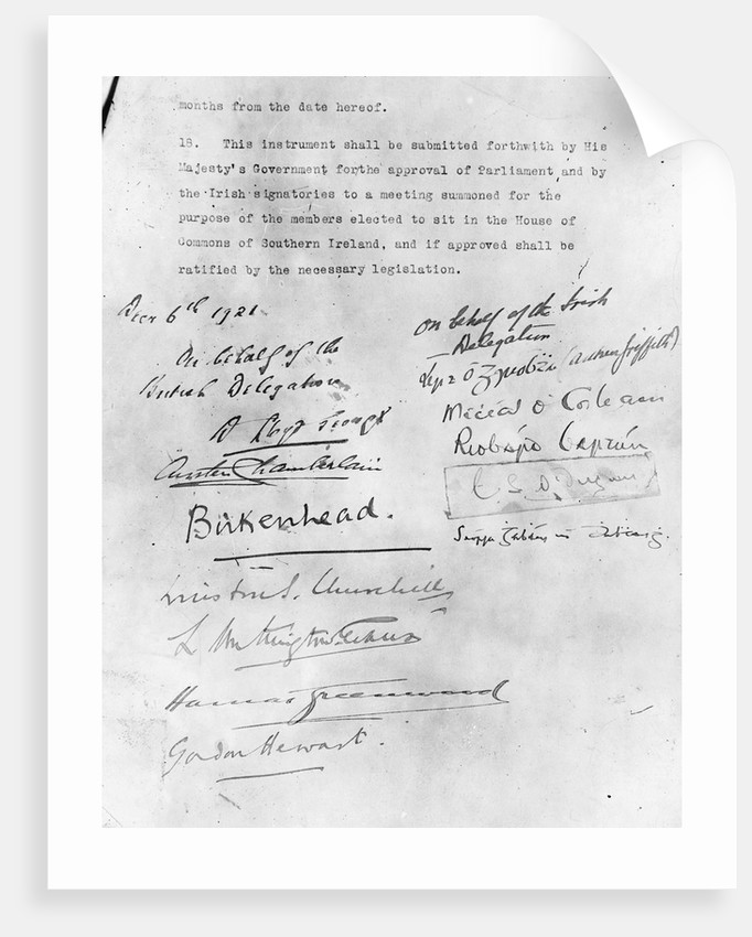 Irish Peace Charter by Corbis