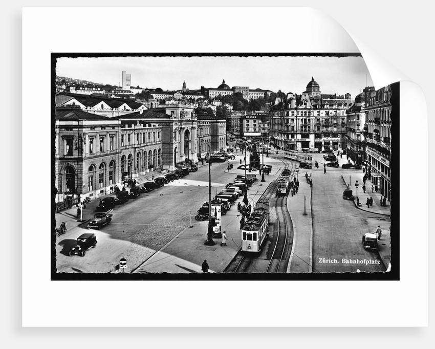 Zurich. Bahnhofplatz. by Corbis