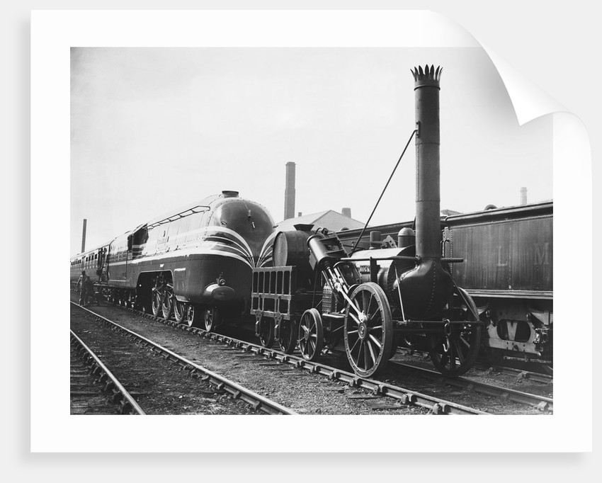 Coronation Scot and Rocket Locomotives by Corbis