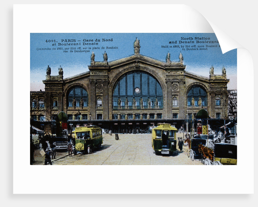 Color Print of Buses Outside Gare du Nord by Corbis