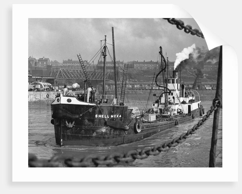 Tanker Leaves Liverpool Docks by Corbis