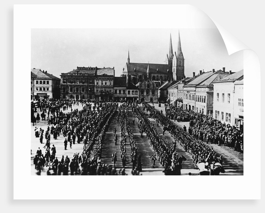 Austro-Hungarian Troops in Formation by Corbis
