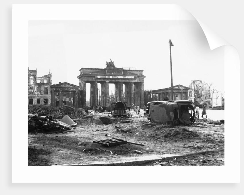 Brandenburg Gate, Berlin 1945 by Corbis