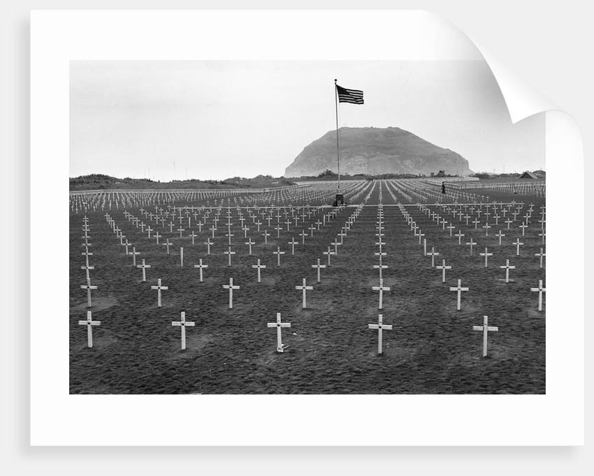 US Marine Cemetery on Iwo Jima by Corbis