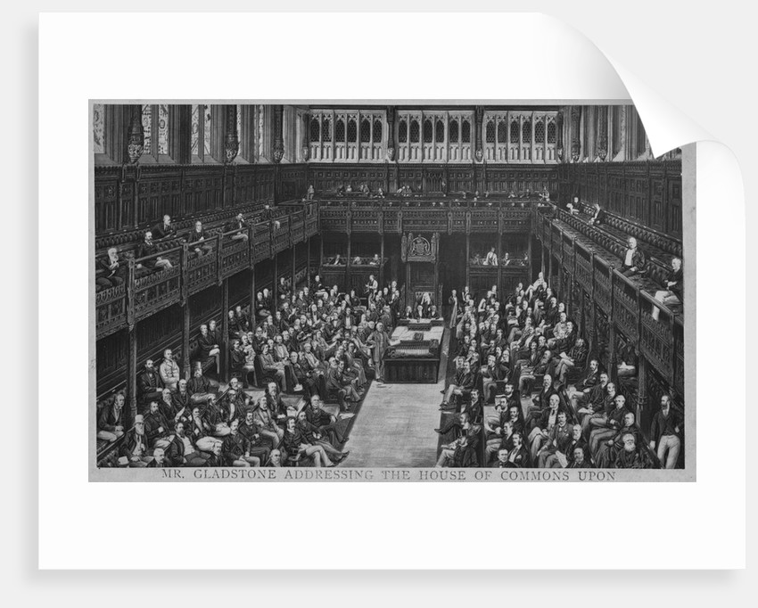 Gladstone Addresses House of Commons by Corbis
