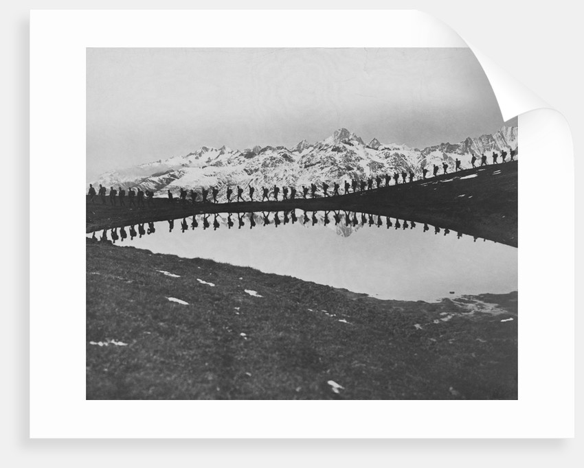 Soldiers Pass Mountain Lake by Corbis