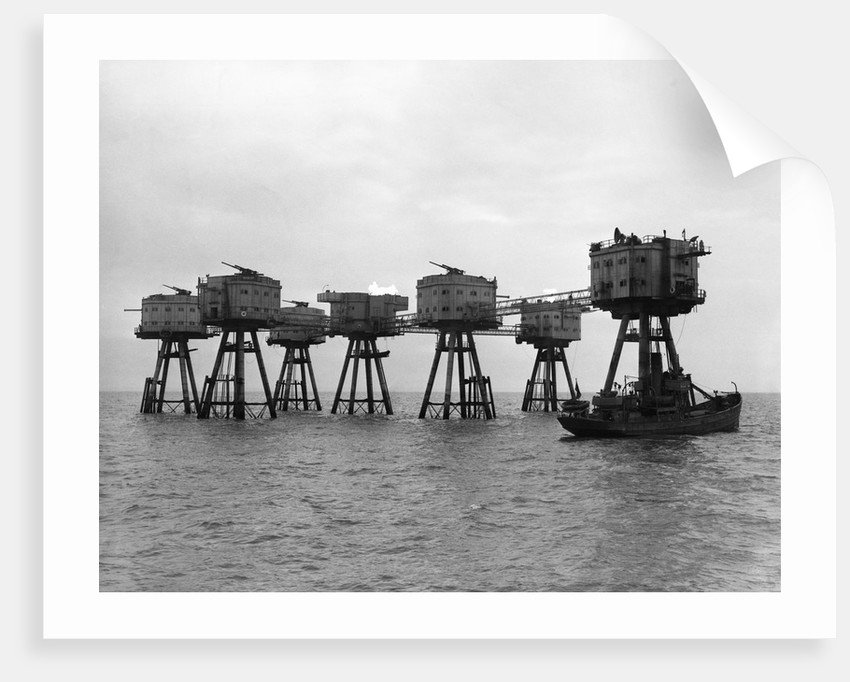 Artillery Towers in the Thames Estuary by Corbis