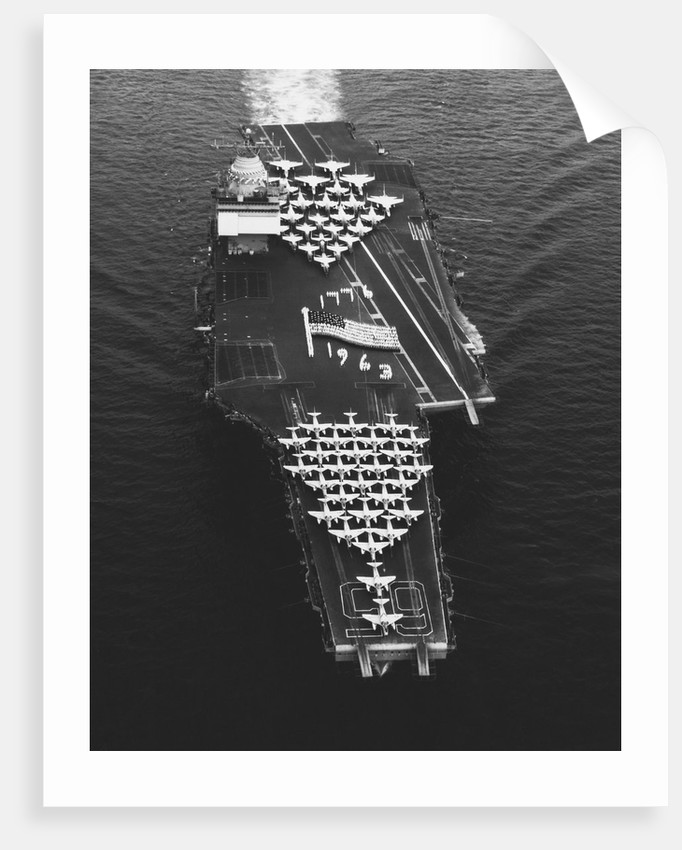 USS Enterprise in the Mediterranean Sea by Corbis
