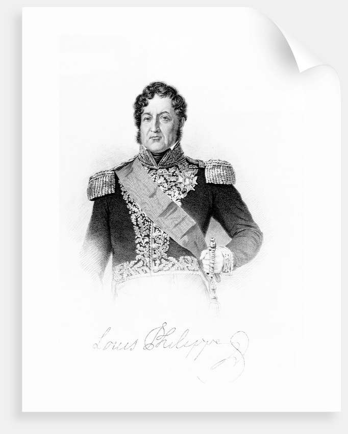Lithograph of Louis-Philippe by Corbis