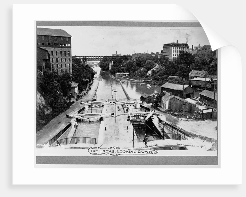 Canal Locks at Lockport by Corbis