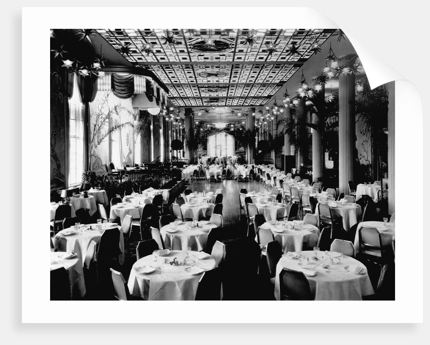 Dining Room of the Waldorf-Astoria Hotel, New York by Corbis