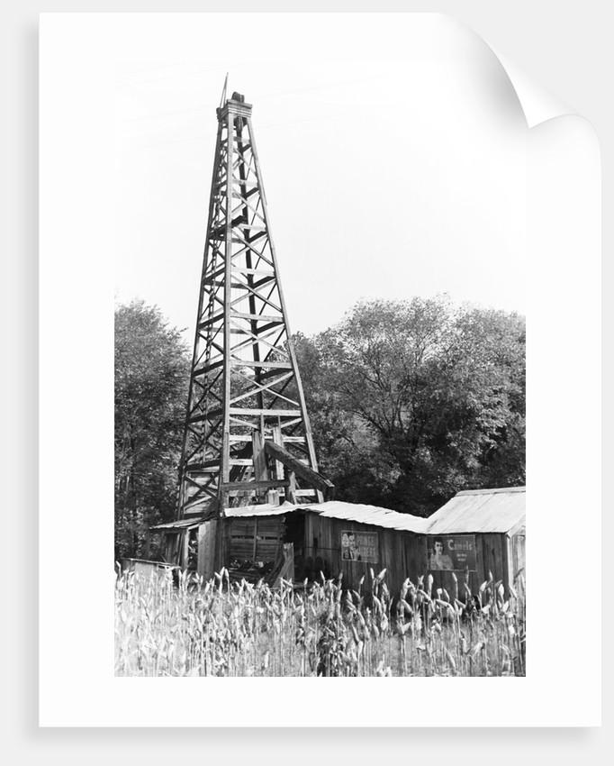 Abandoned Oil Derrick by Corbis