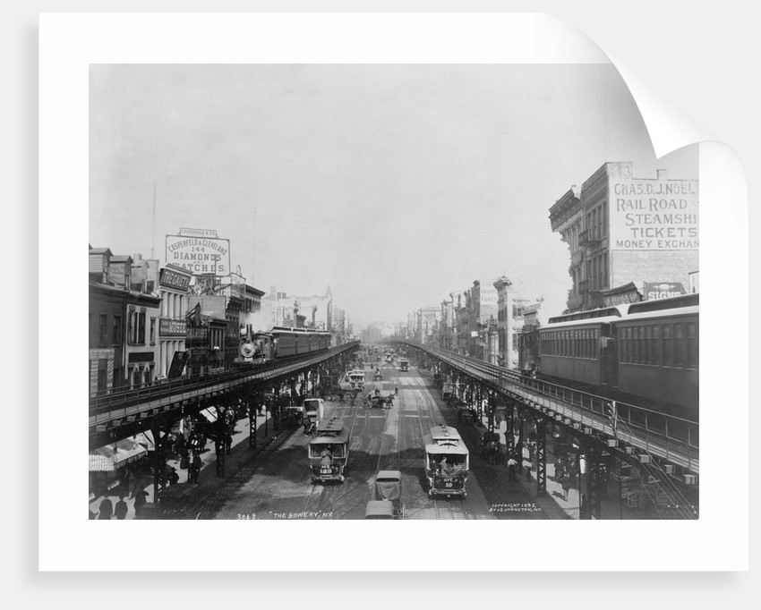 Elevated Trains in Manhattan's Bowery by Corbis