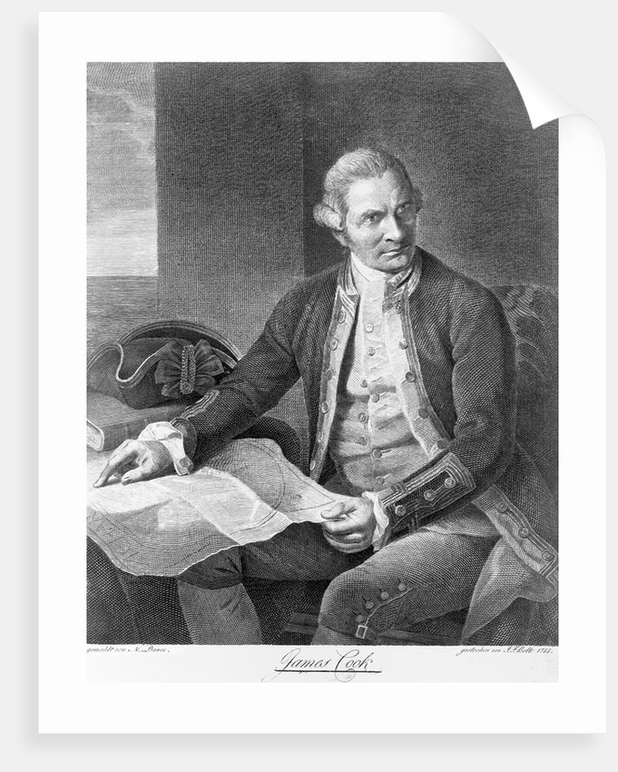 Captain James Cook Engraving after the Painting by Nathaniel Dance
