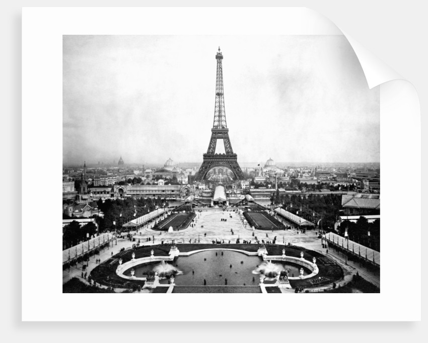 Eiffel Tower Over Exposition 1889 by Corbis