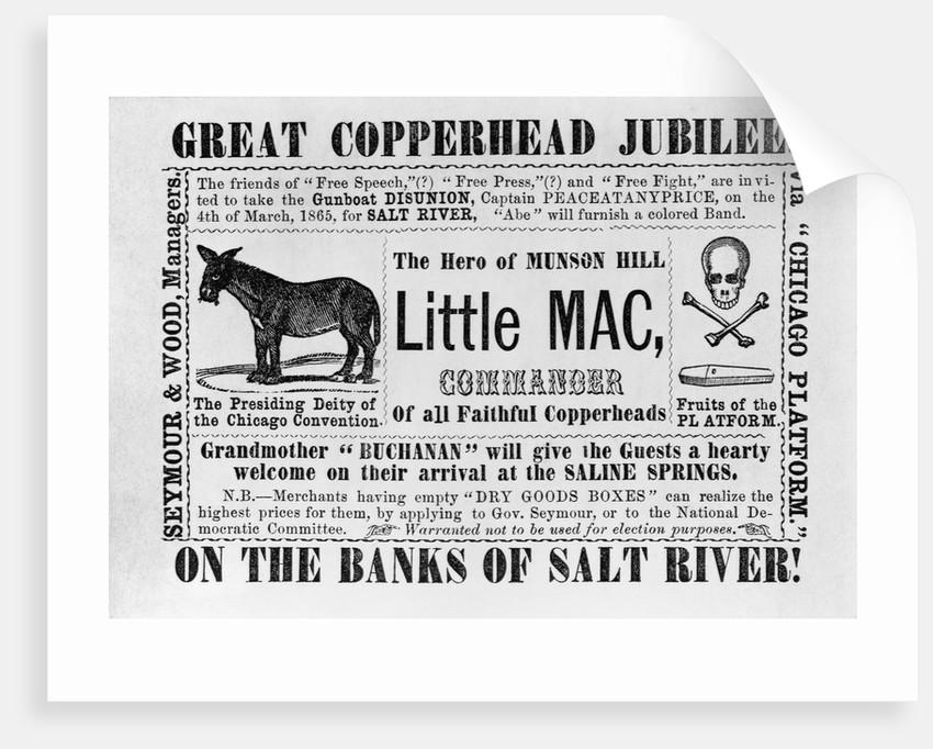 Great Copperhead Jubilee! Anti-Democratic Party Political Cartoon by Corbis