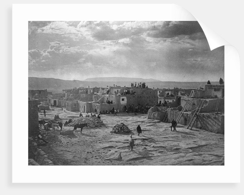 A Feast Day at Acoma by Edward S. Curtis