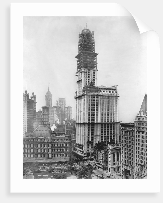 Construction of the Woolworth Building, New York by Corbis