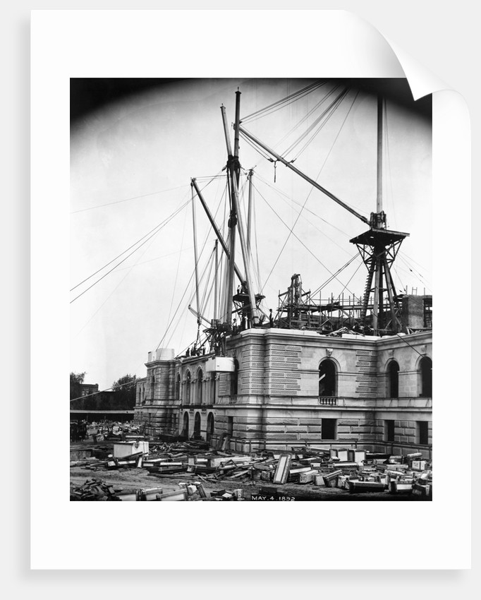 CONSTRUCTION OF THE LIBRARY OF CONGRESS PHOTOS MAY 4, 1892 by Corbis