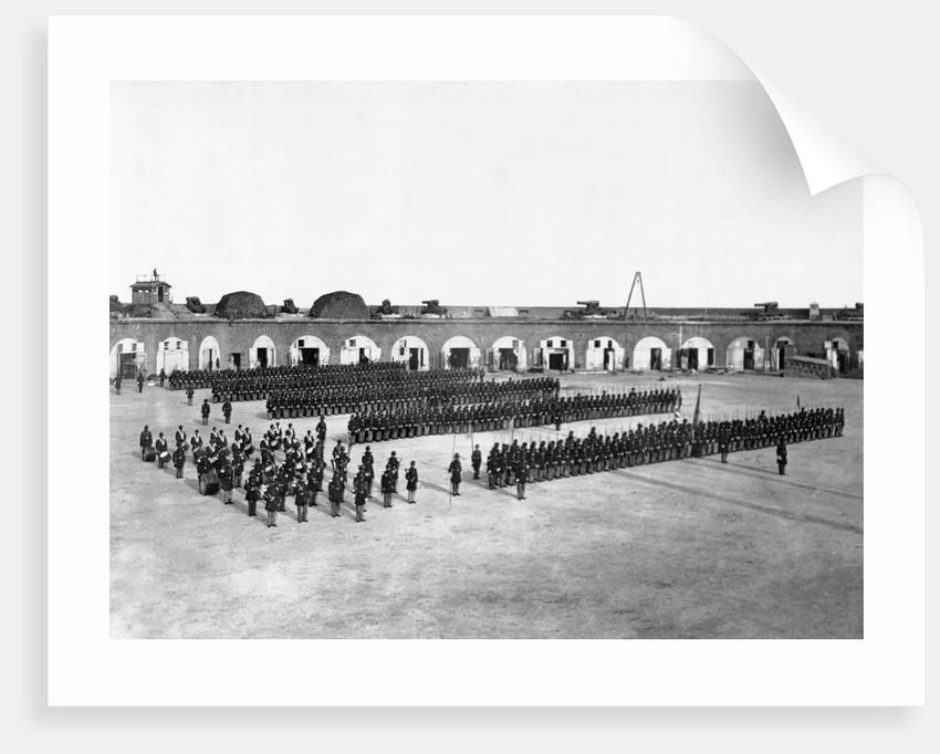 48th New York Infantry at Fort Pulaski by Corbis