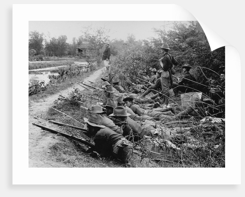 American Soldiers on Maneuvers During the Philippine Insurrection by Corbis
