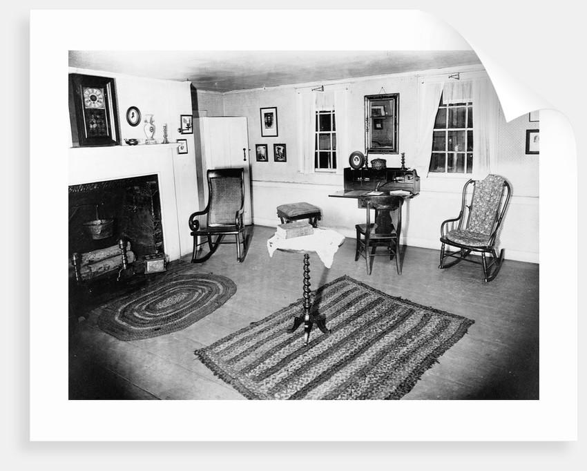 Parlor of the Edgar Allen Poe cottage, N.Y.C. Photo. J 232393, Dec. 17, 1918. by Corbis