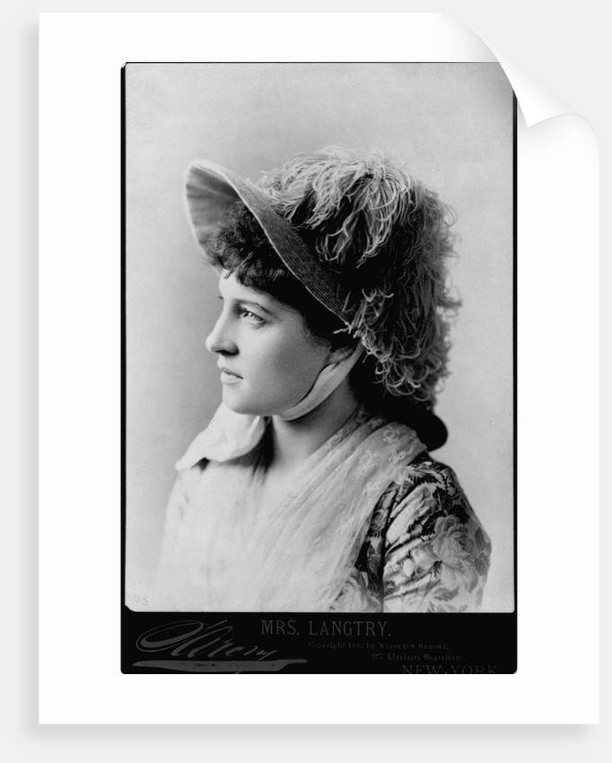 Actress Lillie Langtry by Corbis