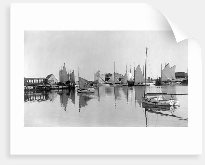 Boats in Nantucket Harbor by Corbis