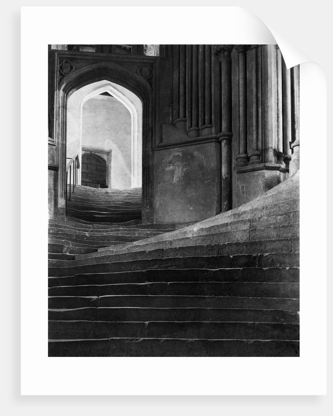 Stairway in Wells Cathedral, England by Corbis