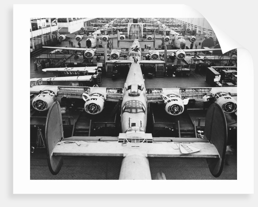 B-24s at an Aircraft Plant by Corbis