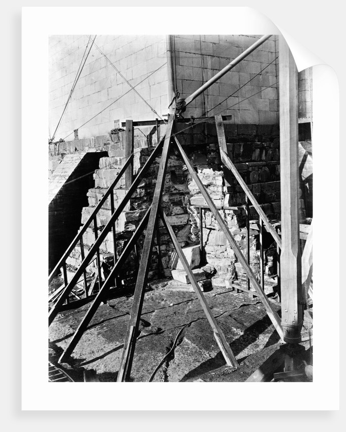 Buttresses Under Foundation of the Washington Monument by Corbis