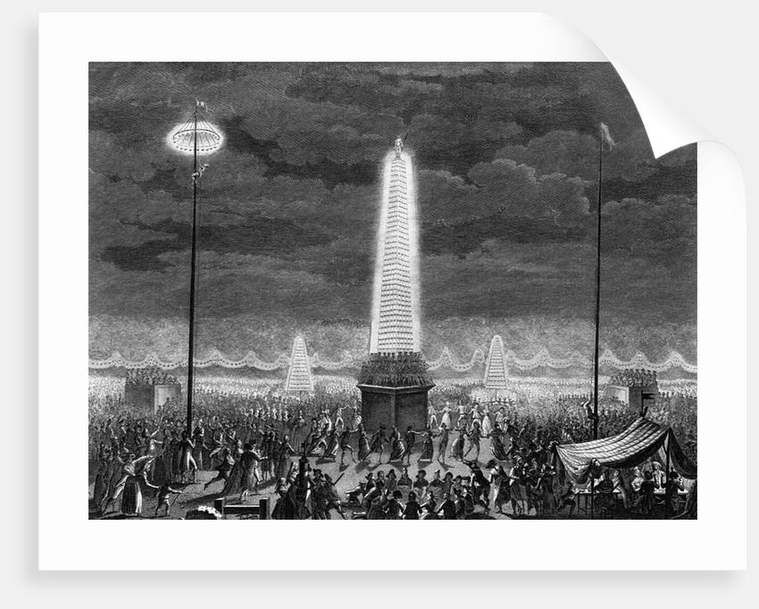 Fetes et Illuminations aux Champs Elysees, le 18 Juillet 1790 by Pierre Gabriel Berthault