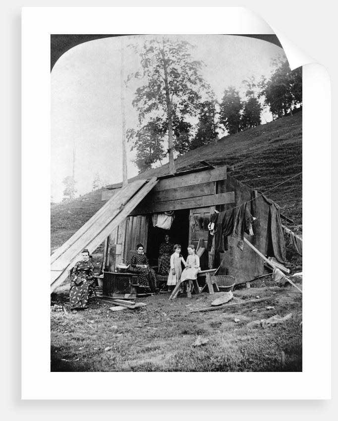 Flood Victims Living in a Cave by Corbis