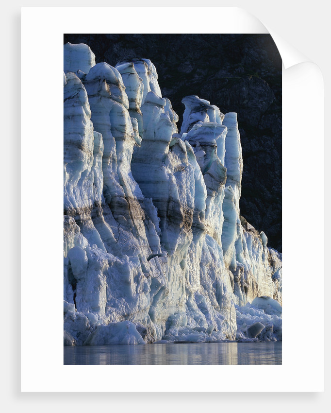 Sunset Light on Face of Lamplugh Glacier by Corbis