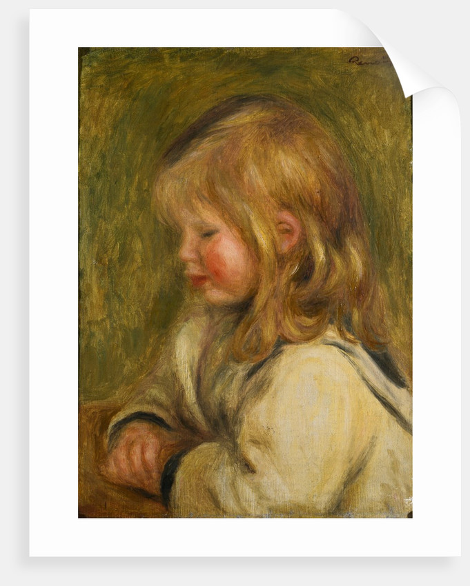 Head of a Young Girl by Pierre Auguste Renoir